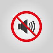The no sound icon. Volume Off symbol. Flat — Stock Vector