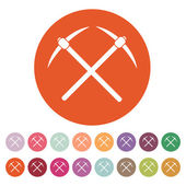 The pick icon. Pickax symbol. Flat — Stock Vector