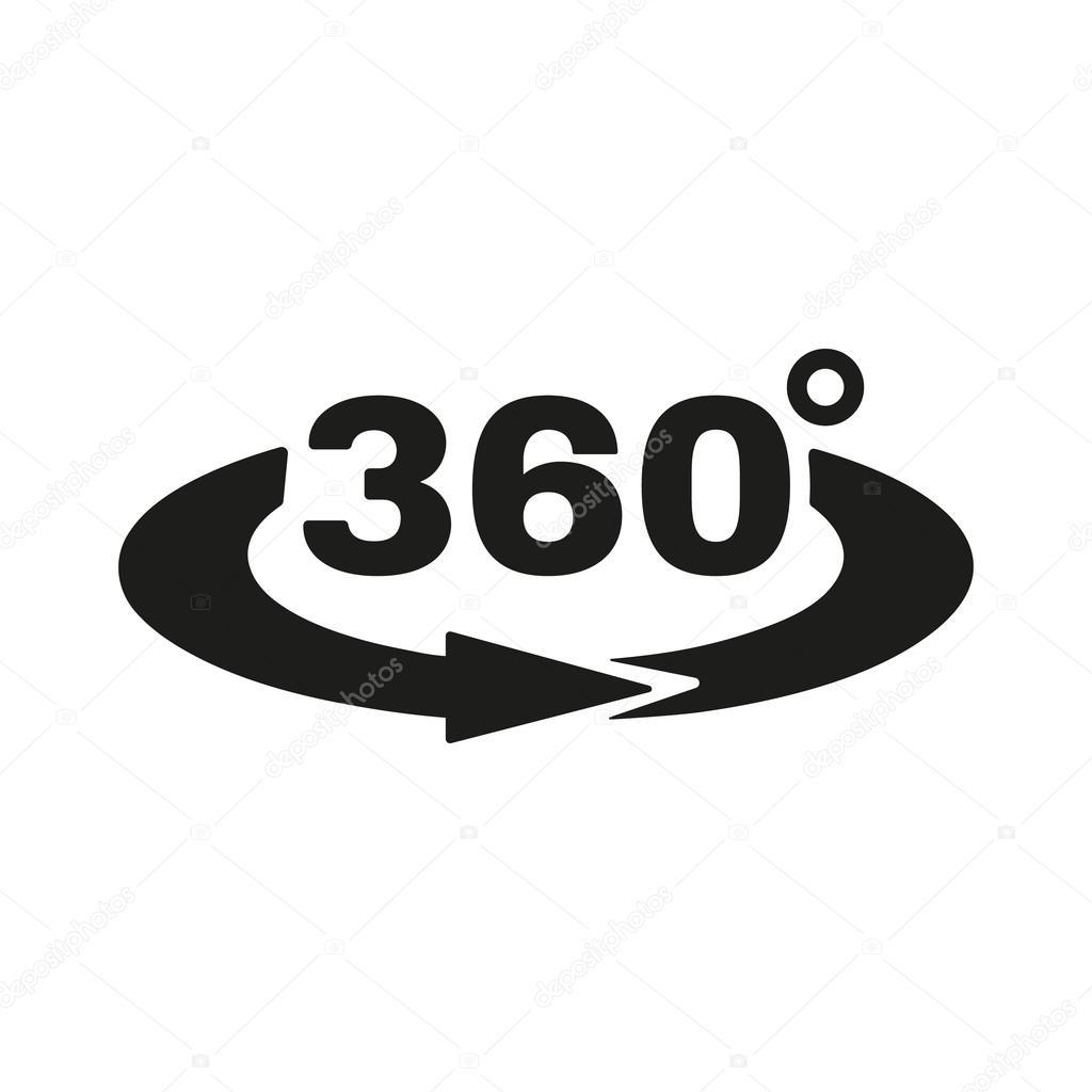 각도 360도 아이콘입니다. 회전 기호입니다. 평면