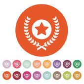 Award icon. Priz symbol. Flat — Stock Vector