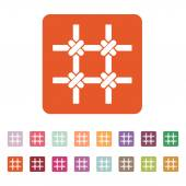 The prison bars icon. Grid symbol. Flat — Stock Vector