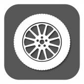 The tire icon. Wheel symbol. Flat — Stock Vector
