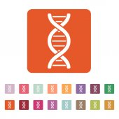 The dna icon. DNA symbol. Flat — Stock Vector