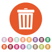 The trashcan icon. Dustbin symbol. Flat  — Stock Vector