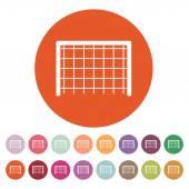 The Football gate icon. Soccer symbol. Flat — Stockvektor