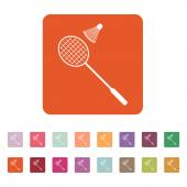 The badminton icon. Sport symbol. Flat — Stock Vector