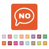 The NO speech bubble icon. No symbol. Flat — Cтоковый вектор