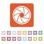 The diaphragm icon. Aperture symbol. — Stock Vector