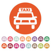 The taxi icon. Taxicab symbol. Flat — Stock Vector