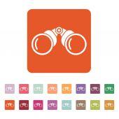 The binoculars icon. Search symbol. Flat — Stock Vector