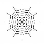 The spiderweb icon. Web symbol. Flat — Stock Vector