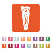 The hairclipper icon. Shaver symbol. Flat — Stock Vector