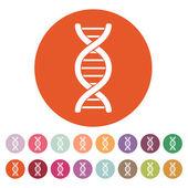 The dna icon. Genetic symbol. Flat — Stock Vector