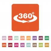 The Angle 360 degrees icon. Rotation symbol. Flat — Stock Vector