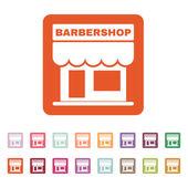The barbershop building icon. Barbershop symbol. Flat — Stock Vector