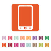 The smartphone icon. Phone symbol. — Stock Vector