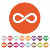 The infinity icon. Infinity symbol. Flat — Stock Vector