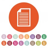 The document icon. Notes symbol. Flat — Stock Vector