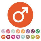 The male icon. Man symbol. Flat — Stock Vector