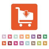The cart shoping icon. Shop Cart symbol. Flat — Stock Vector