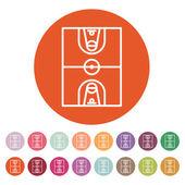The basketball icon. Basketball symbol. Flat — Stock Vector