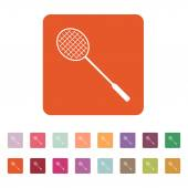 The badminton icon. Game symbol. Flat — Stock Vector