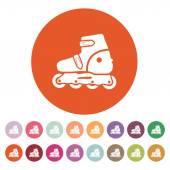The roller skate icon. Skates symbol. Flat — Stock Vector