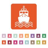 The ship icon. Travel symbol. Flat — Stock Vector
