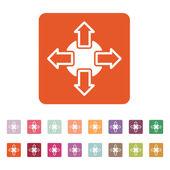 The navigation icon. Arrows symbol. Flat — Stock Vector