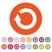 The refresh icon. Loading symbol. Flat — Stock Vector