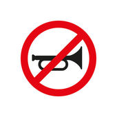 The keep quiet icon. No sound symbol. Flat — Stock Vector