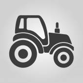 The tractor icon. Agrimotor symbol. Flat — Stock Vector