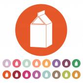 The milk box icon. Packing and container symbol. Flat — Stock Vector