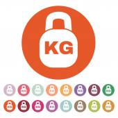 The kilogram icon. Kg and weight symbol. Flat — Stock Vector