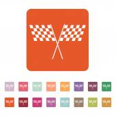 The checkered flag icon. Finish and start, winner symbol. Flat — Stock Vector
