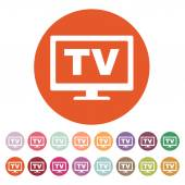 The tv icon. Television and telly, telecasting, broadcast symbol. Flat — Stock Vector