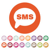 The sms icon. Text message symbol. Flat — Stock Vector