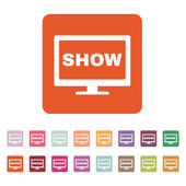 The tv show icon. Television and telly, telecasting, broadcast symbol. Flat — Stock Vector