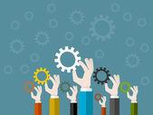 Business synergy — Stock Vector