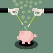 Magic money — Stock Vector