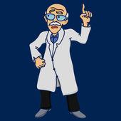 Scientist disgruntled illustration — Stock Vector