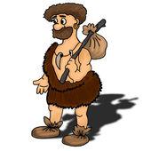 Ancient man vector illustration — Stock Vector