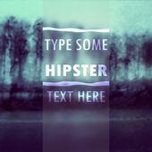 Hipster vintage text vector illustration — Cтоковый вектор