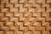 Woven bamboo wall pattern — Stock Photo
