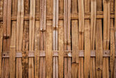 Bamboo weave pattern wall — Stock Photo
