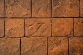 Brown stone brick wall background — Stock Photo