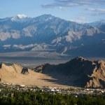 Aerial view of Leh city, Ladakh, India — Stock Photo #71930517