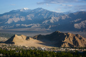 Aerial view of Leh city, Ladakh, India — Stock Photo