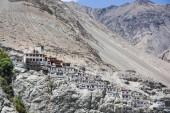 Diskit monastery in Nubra valley, Ladakh, India — Stock Photo