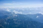 Aerial view of Himalaya range above india — Stock Photo
